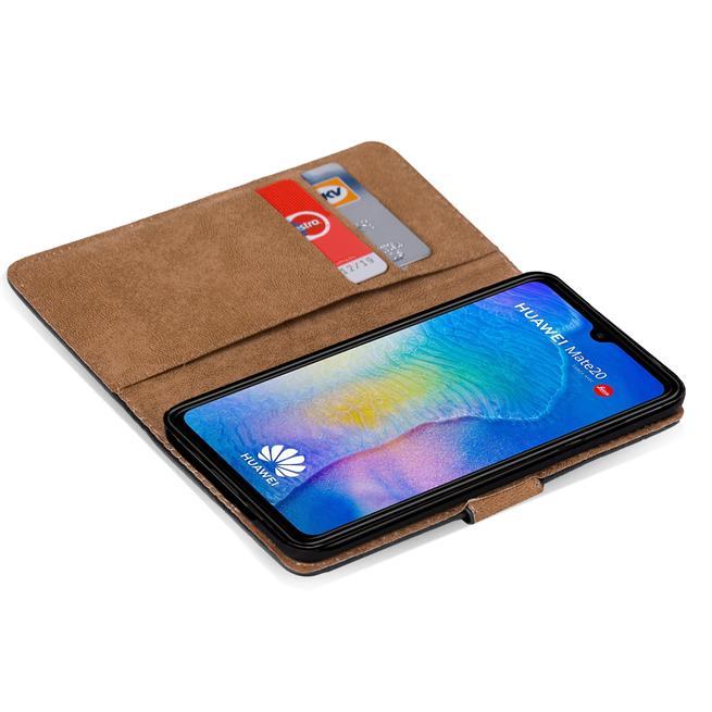 Basic Bookcase Hülle für Huawei Mate 20 Schutzhülle mit Kartenfächern