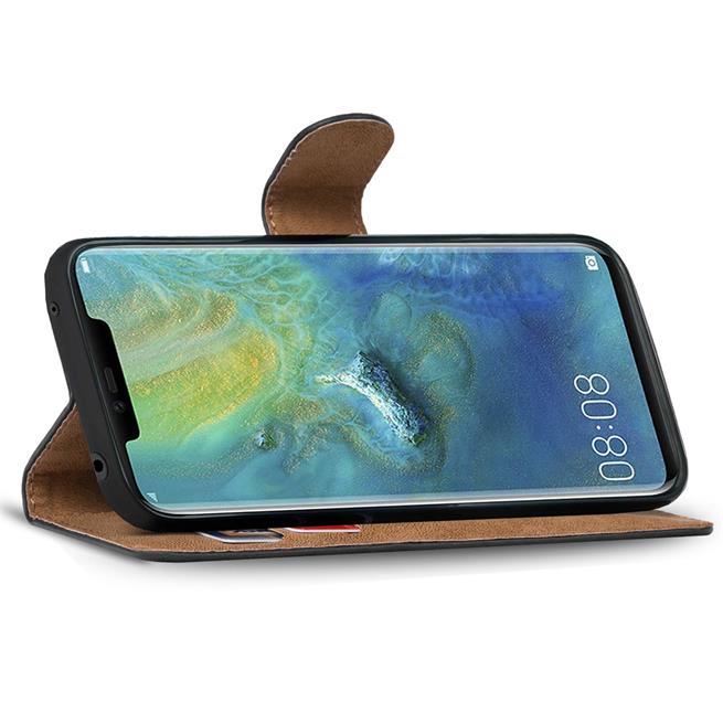 Basic Bookcase Hülle für Huawei Mate 20 Pro Tasche mit Kartenfächern