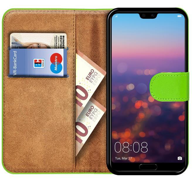 Huawei P20 Basic Booklet Handy Hülle Brieftasche Wallet Case Cover mit Kartenfach