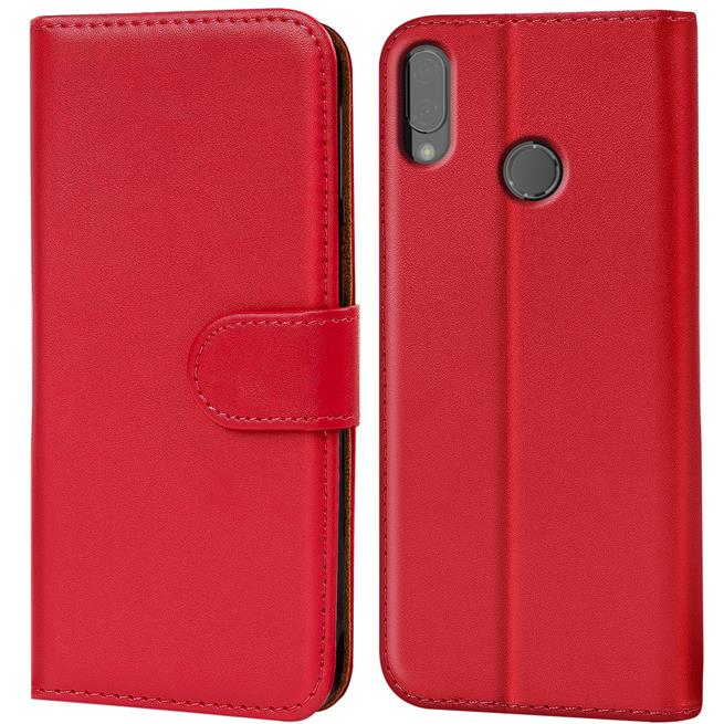 Huawei P20 Lite Basic Booklet Handy Hülle Brieftasche Wallet Case Cover mit Kartenfach