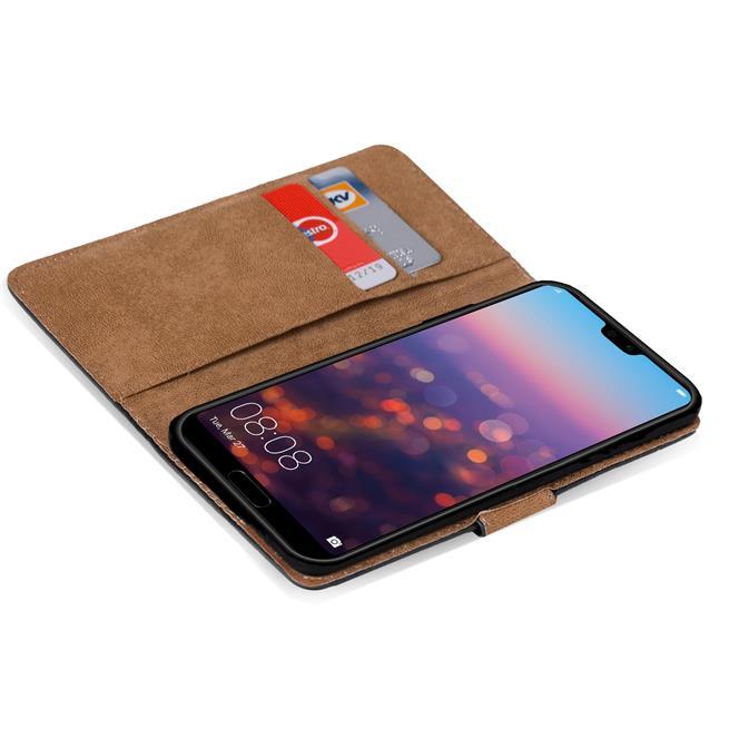 Basic Bookcase Hülle für Huawei P20 Lite Schutzhülle mit Kartenfächern
