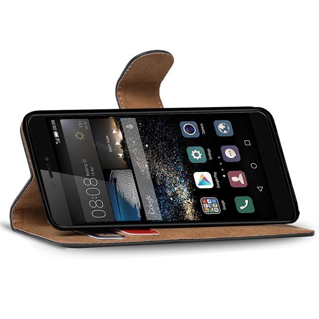 Basic Bookcase Hülle für Huawei P8 Schutzhülle mit Kartenfächern
