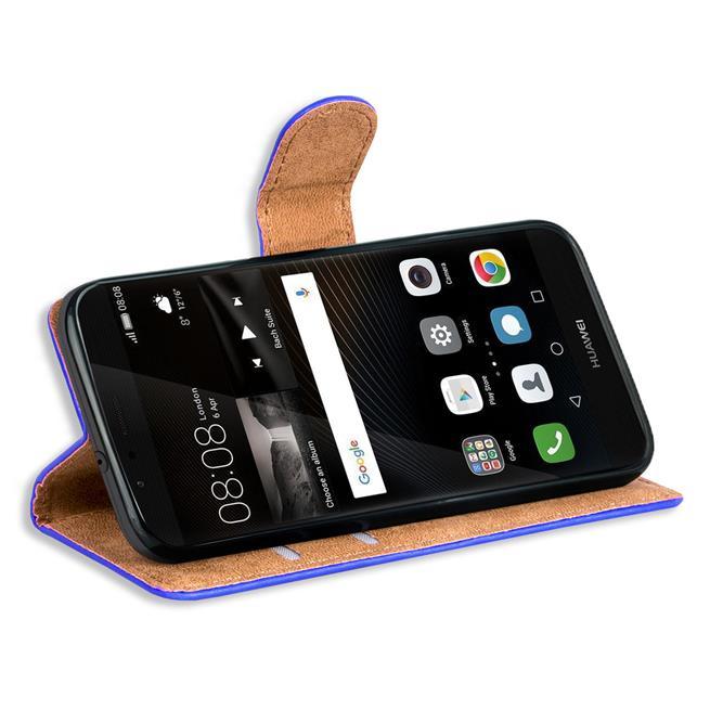 Basic Bookcase Hülle für Huawei P9 klappbare Tasche mit Kartenfächern
