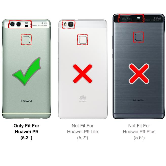 Basic Handyhülle für Huawei P9 Hülle Book Case klappbare Schutzhülle