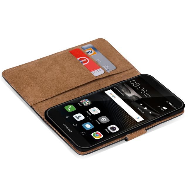 Basic Bookcase Hülle für Huawei P9 Plus Schutzhülle mit Kartenfächern