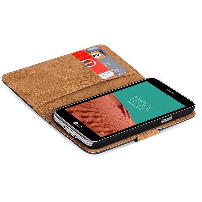 Basic Bookcase Hülle für LG Bello 2 klappbare Tasche mit Kartenfächern