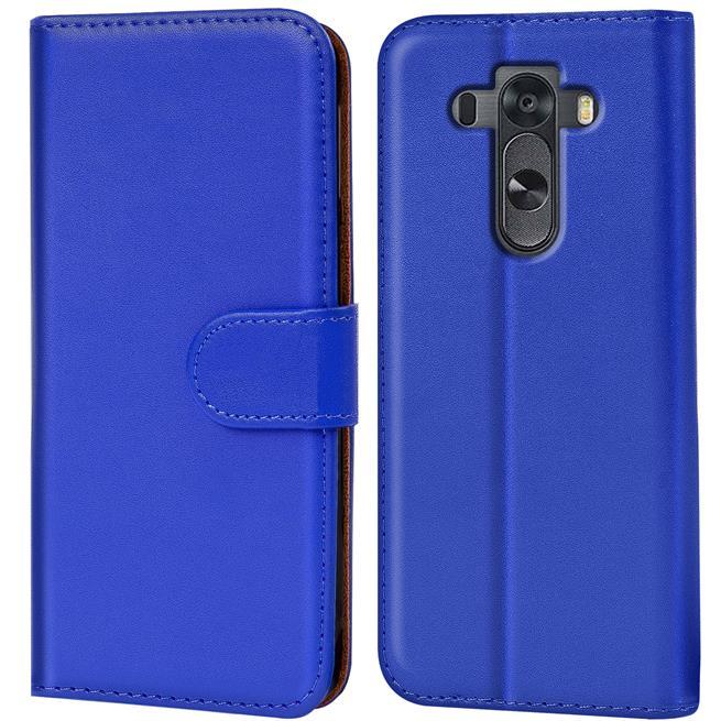 Basic Bookcase Hülle für LG G3 Klapphülle Tasche mit Kartenfächer in Blau