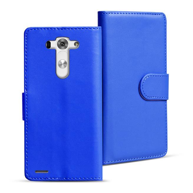 Basic Bookcase Hülle für LG G4c Klapphülle Tasche mit Kartenfächer in Blau