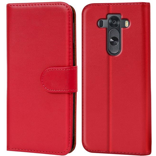 Basic Bookcase Hülle für LG G4 Klapphülle Tasche mit Kartenfächer in Rot