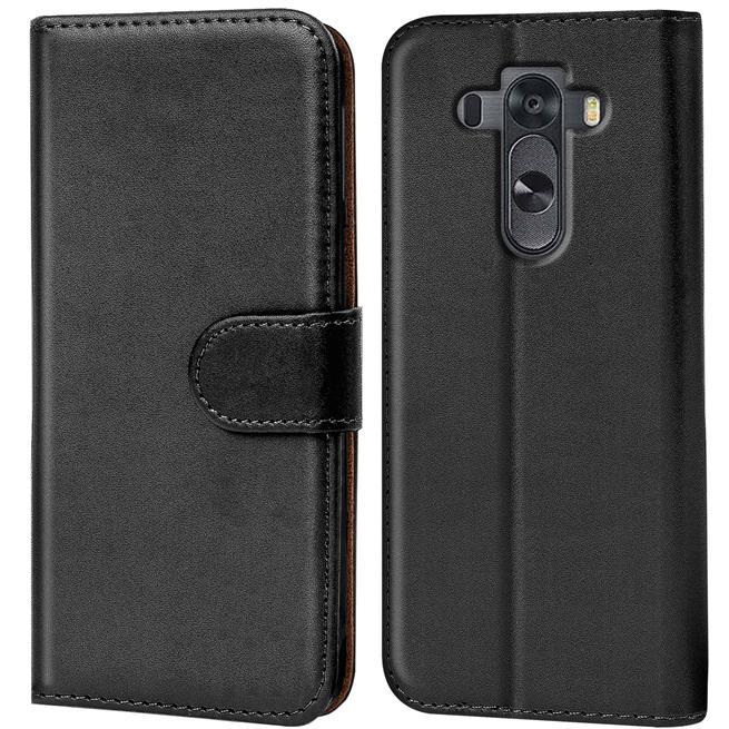 Basic Bookcase Hülle für LG G4 Klapphülle Tasche mit Kartenfächer in Schwarz