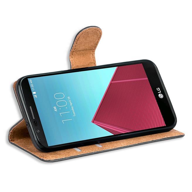 Basic Handyhülle für LG G4 Hülle Book Case klappbare Schutzhülle