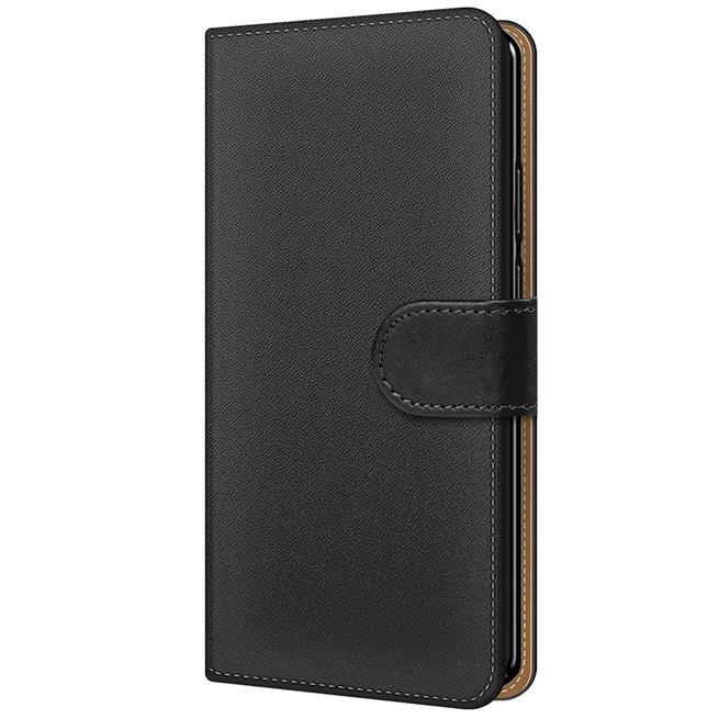 Basic Bookcase Hülle für LG Q7+ klappbare Tasche mit Kartenfächern