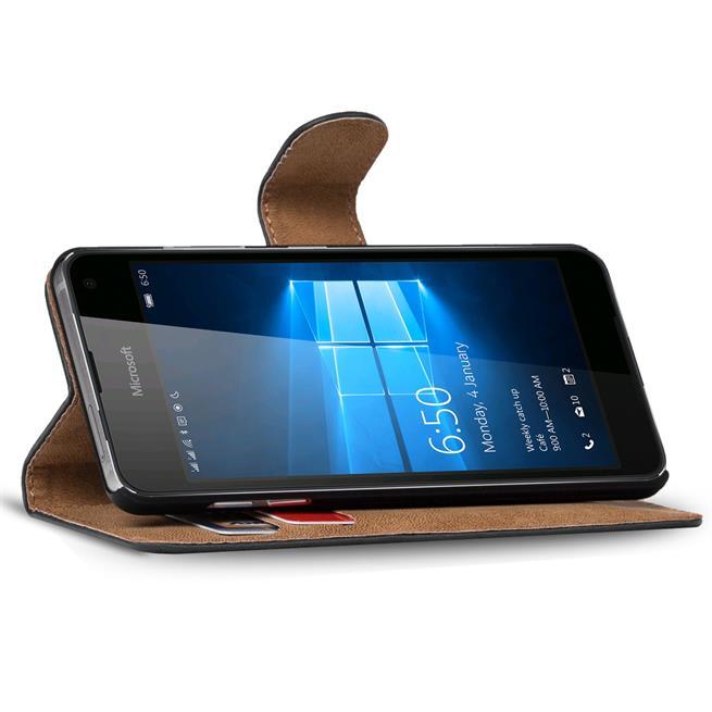 Basic Bookcase Hülle für Microsoft Lumia 950 Tasche mit Kartenfächern