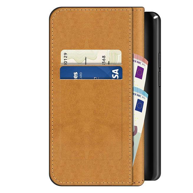 Basic Bookcase Hülle für Motorola Moto G8 Plus Case klappbare Schutzhülle