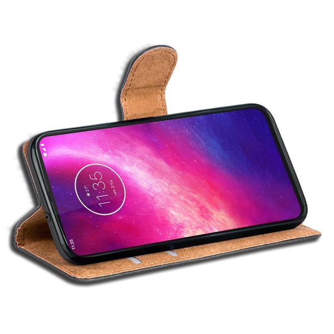Basic Bookcase Hülle für Motorola One Hyper Case klappbare Schutzhülle