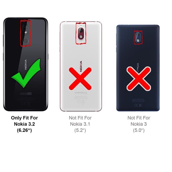 Basic Bookcase Hülle für Nokia 3.2 Case klappbare Schutzhülle