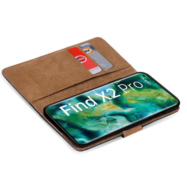 Basic Handyhülle für OPPO Find X2 Pro Hülle Book Case klappbare Schutzhülle