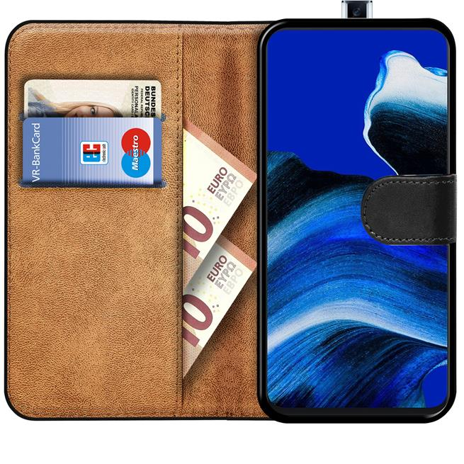 Basic Handyhülle für OPPO Reno2 Z Hülle Book Case klappbare Schutzhülle