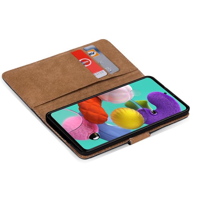 Basic Bookcase Hülle für Samsung Galaxy A51 Case klappbare Schutzhülle