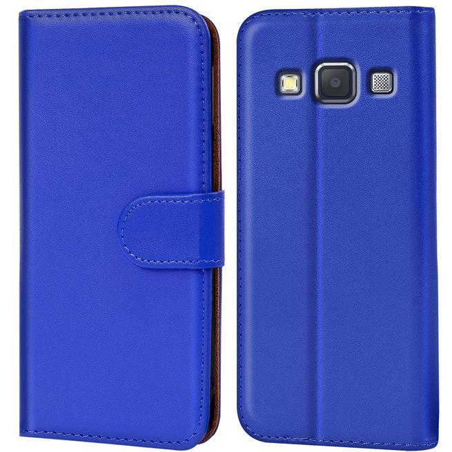 Basic Bookcase Hülle für Samsung Galaxy A5 Klapphülle Tasche mit Kartenfächer in Blau