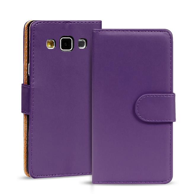 Basic Bookcase Hülle für Samsung Galaxy A5 Klapphülle Tasche mit Kartenfächer in Lila