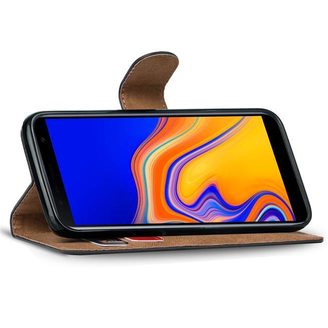 Basic Bookcase Hülle für Samsung Galaxy A7 2018 klappbare Schutzhülle