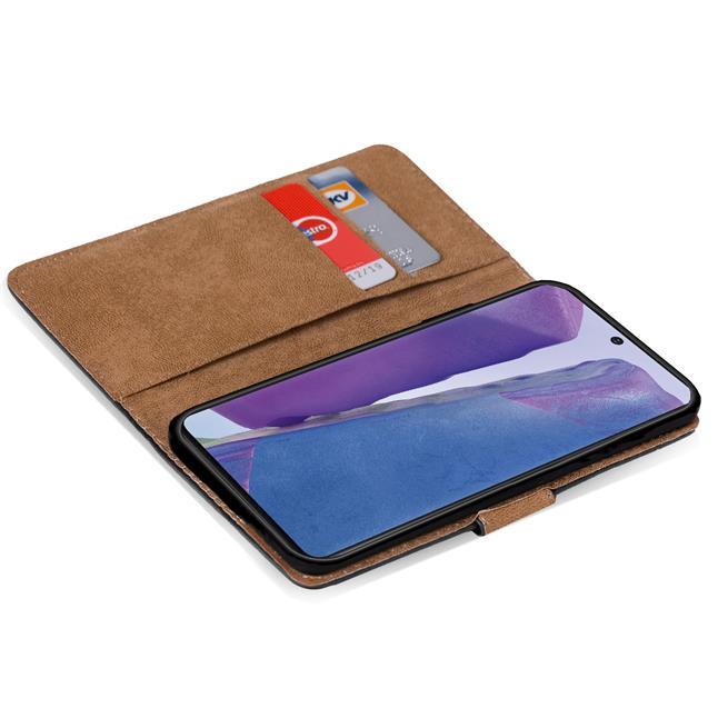 Basic Bookcase Hülle für Samsung Galaxy Note 20 Case klappbare Schutzhülle