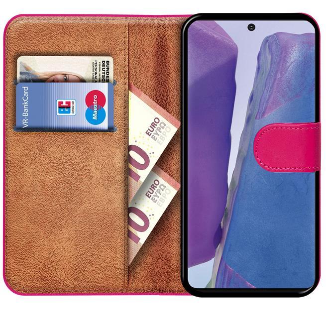 Basic Bookcase Hülle für Samsung Galaxy Note 20 Ultra Case klappbare Schutzhülle