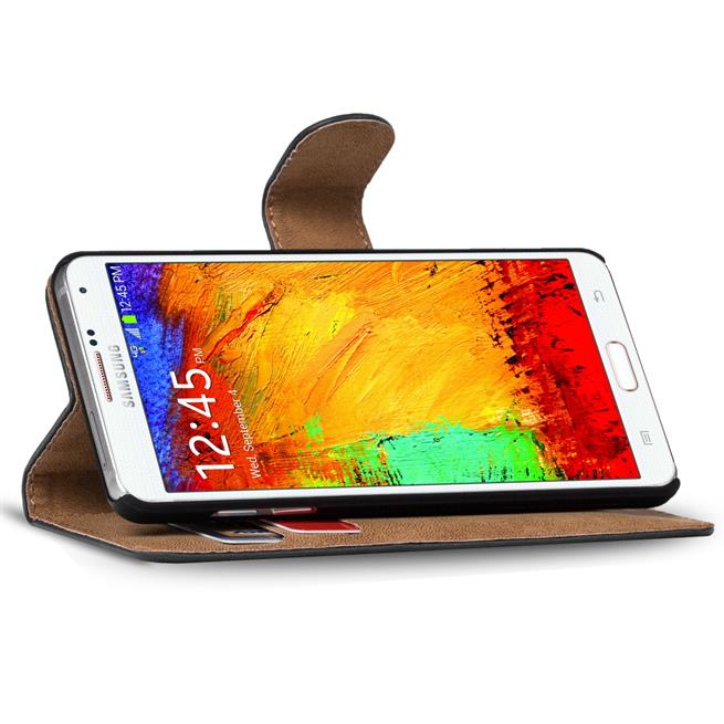 Basic Bookcase Hülle für Samsung Galaxy Note 3 aufstellbares Etui