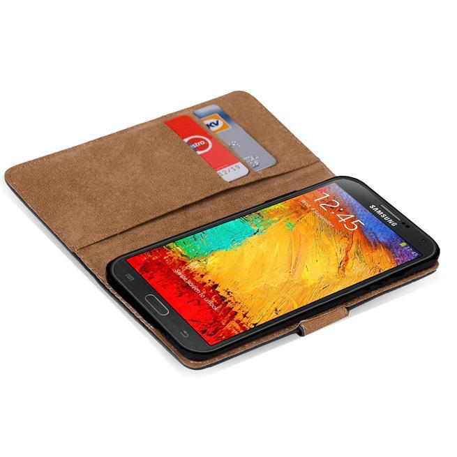 Basic Bookcase Hülle für Samsung Galaxy Note 3 Case klappbare Schutzhülle