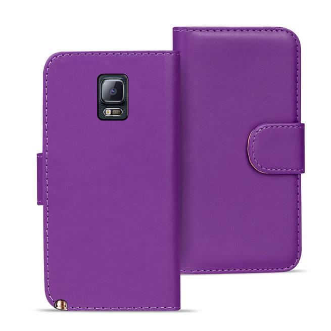 Basic Bookcase Hülle für Samsung Galaxy Note 4 Klapphülle Tasche mit Kartenfächer in Lila