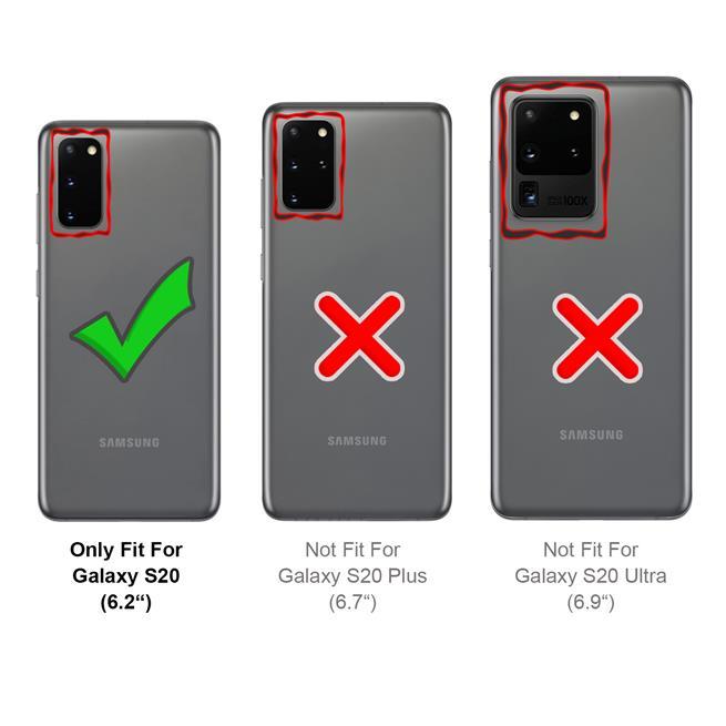 Basic Bookcase Hülle für Samsung Galaxy S20 Case klappbare Schutzhülle