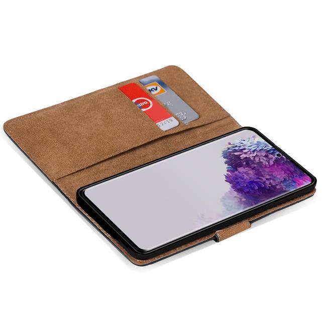 Basic Bookcase Hülle für Samsung Galaxy S20 Ultra Case klappbare Schutzhülle