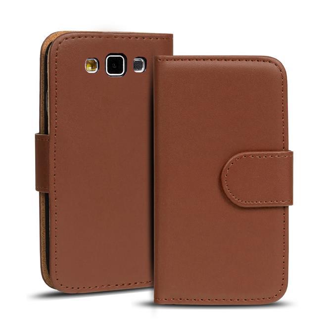Basic Bookcase Hülle für Samsung Galaxy S3 / S3 Neo Klapphülle Tasche mit Kartenfächer in Braun
