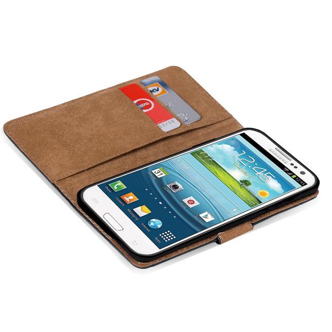 Basic Bookcase Hülle für Samsung Galaxy S3 Case klappbare Schutzhülle