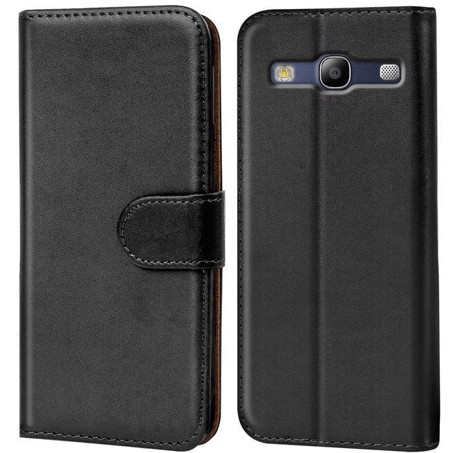 Basic Bookcase Hülle für Samsung Galaxy S3 / S3 Neo Klapphülle Tasche mit Kartenfächer in Schwarz