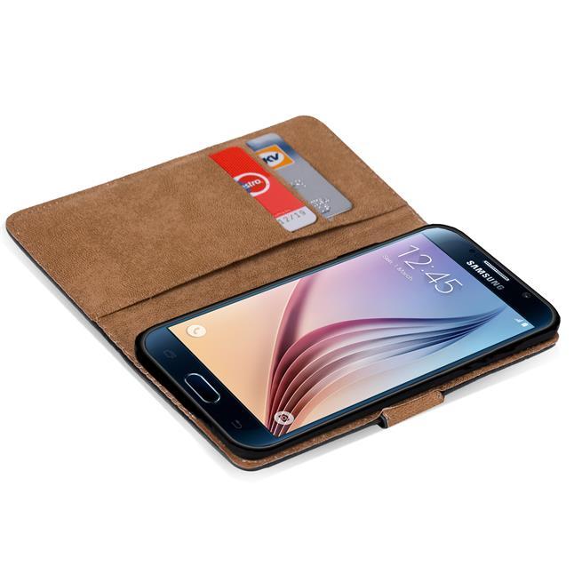 Basic Bookcase Hülle für Samsung Galaxy S6 Edge Case klappbare Schutzhülle