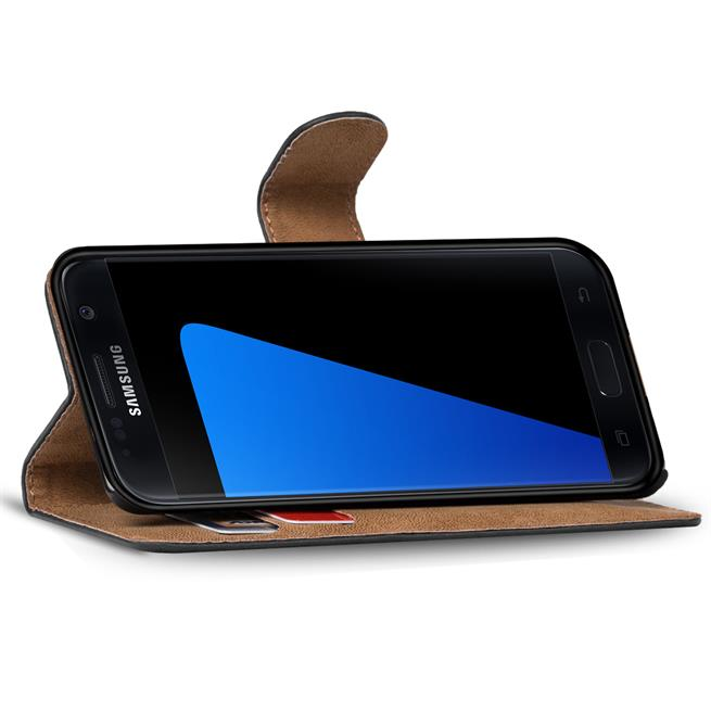 Basic Bookcase Hülle für Samsung Galaxy S7 Klappcase mit Kartenfächern