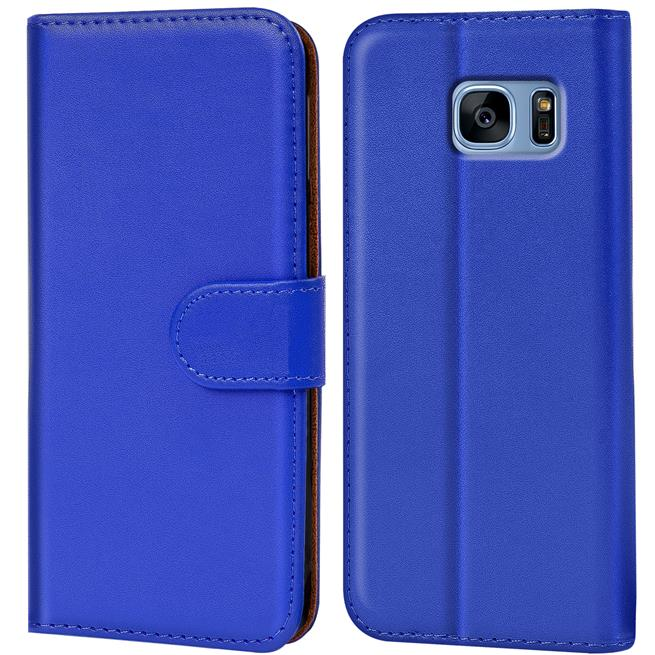 Basic Bookcase Hülle für Samsung Galaxy S7 Edge Case klappbare Schutzhülle
