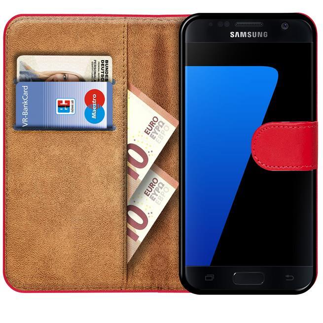 Basic Bookcase Hülle für Samsung Galaxy S7 Edge klappbare Schutzhülle
