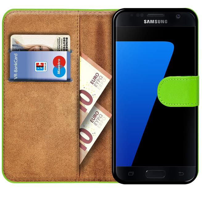 Basic Bookcase Hülle für Samsung Galaxy S7 Case klappbare Schutzhülle
