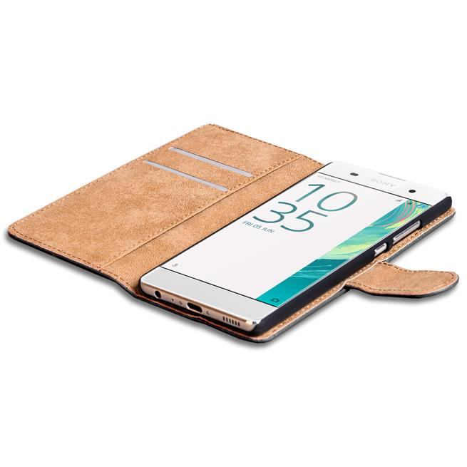 Basic Bookcase Hülle für Sony Xperia X Performance Schutzhülle