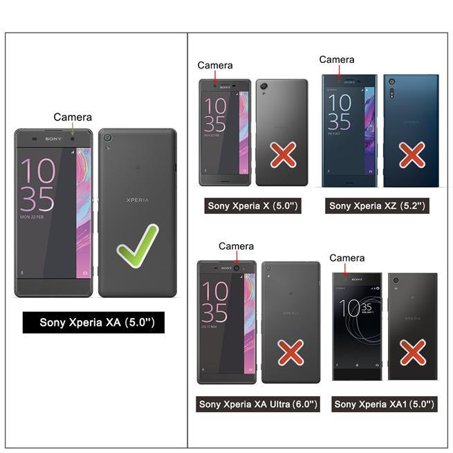 Basic Bookcase Hülle für Sony Xperia XA Schutzhülle mit Kartenfächern
