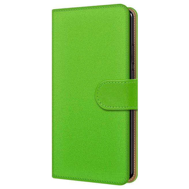 Basic Bookcase Hülle für Sony Xperia XZ2 Compact Klapphülle Tasche mit Kartenfächern in Grün