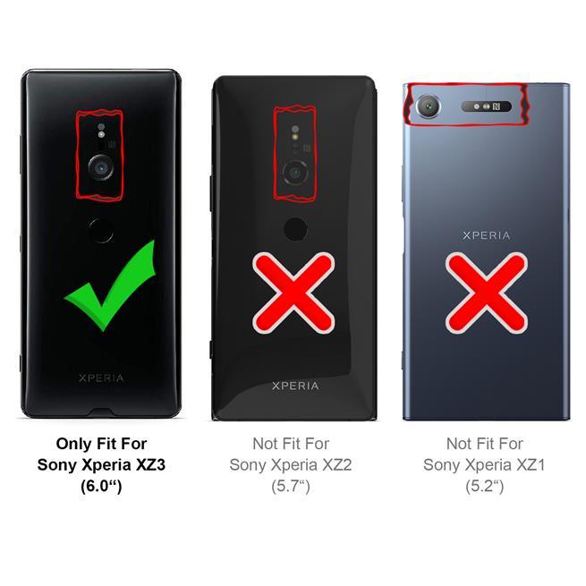Basic Bookcase Hülle für Sony Xperia XZ3 Case klappbare Schutzhülle