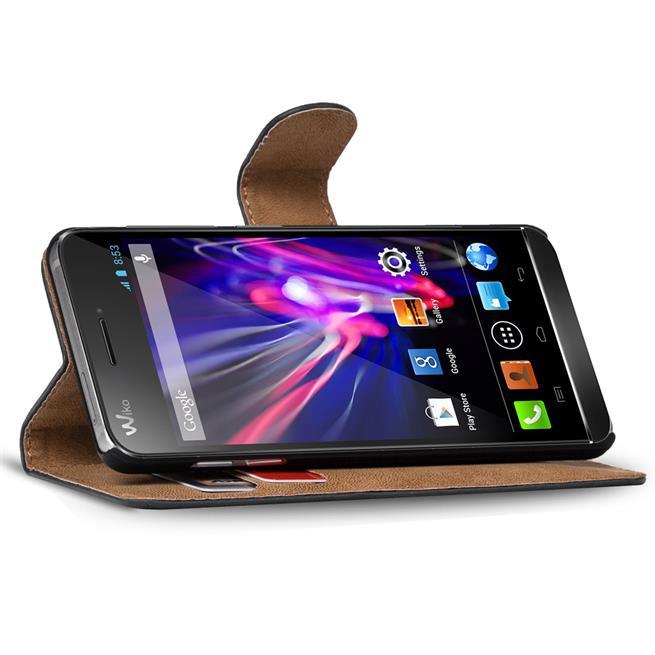Basic Bookcase Hülle für Wiko Wax 4G Klapphülle Tasche mit Kartenfächer