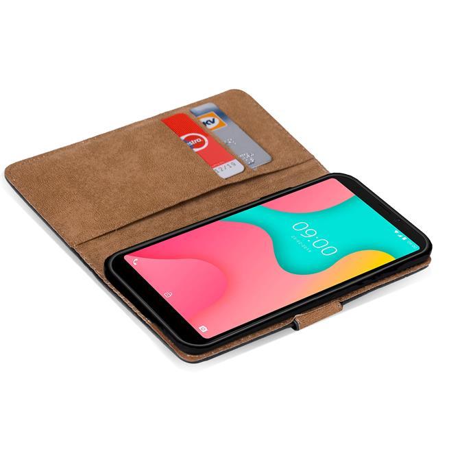 Basic Bookcase Hülle für Wiko Y60 Case klappbare Schutzhülle