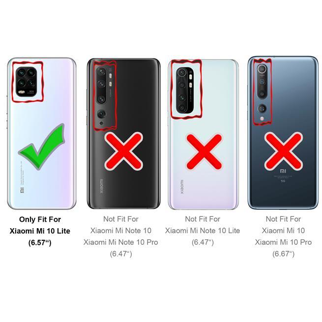 Basic Handyhülle für Xiaomi Mi 10 Lite Hülle Book Case klappbare Schutzhülle
