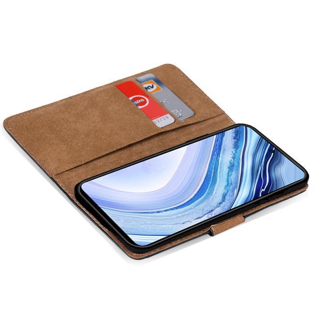 Basic Bookcase Hülle für Xiaomi Redmi Note 9 Pro / Note 9S Case klappbare Schutzhülle