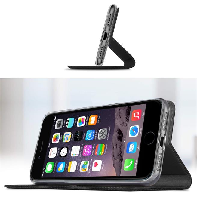 Slim Wallet Case für Apple iPhone 6 Plus / 6S Plus Magnet Hülle